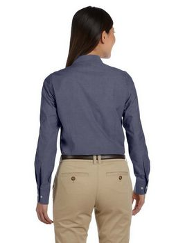 Harriton M555W Ladies Chambray Shirt
