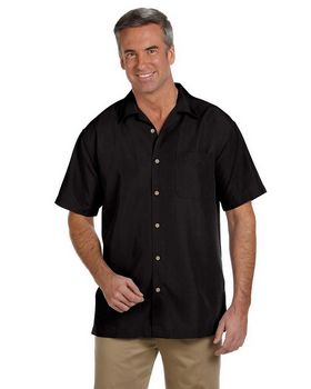 Harriton M560 Mens Barbados Textured Camp Shirt