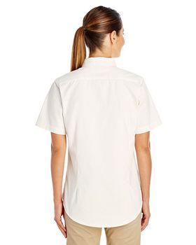 Harriton M582W Ladies Short-Sleeve Twill Shirt
