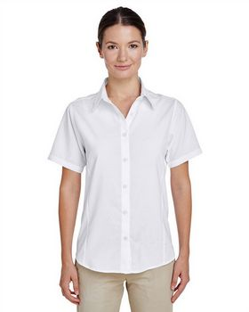 Harriton M610SW Ladies Short-Sleeve Shirt