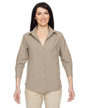 Harriton M610W Ladies Paradise Three Quarter Shirt