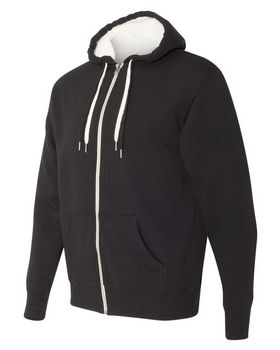 Independent Trading Co. Sherpa-Lined Hooded Sweatshirt