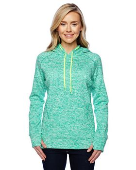 J America J8616 Ladies Pullover Hooded Fleece