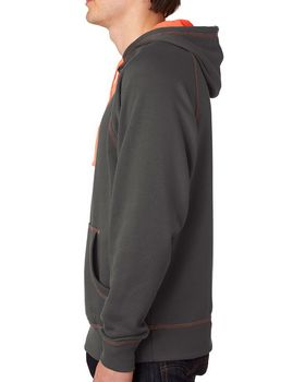 J America J8883 Adult Shadow Hooded Fleece