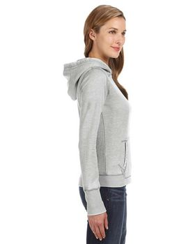 J America J8912 Ladies Vintage Zen Hooded Fleece