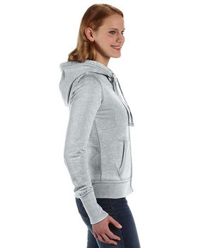 J America J8913 Ladies Vintage Zen Full-Zip Hooded Fleece