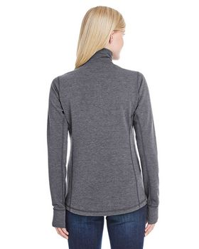J America JA8433 Ladies Quarter-Zip Pullover