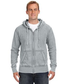J America JA8916 Vintage Zen Full Zip Fleece Hood
