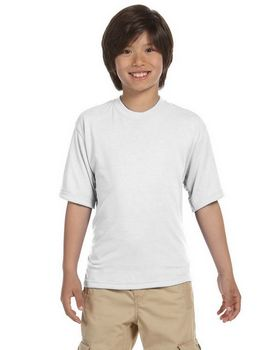 Jerzees 21B Youth Polyester Crew T-Shirt