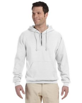 Jerzees 994MR NuBlend 50/50 Fleece Quarter-Zip Pullover Hood