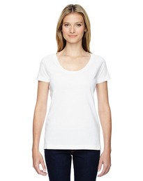 Lat 3504 Ladies Deep Scoop Neck T-Shirt
