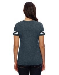 Lat 3537 Ladies Football Tee