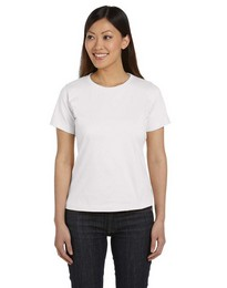 LAT 3580 Women Ringspun Scoop Neck T-Shirt
