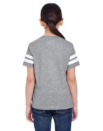 Lat 6137 Youth Football Tee
