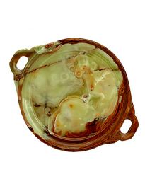 Natures Artifacts Multi Green Onyx Serving Platter