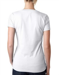 Next Level 6640 Ladies CVC Deep V Tee