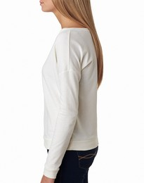 Next Level 6931 The Terry Raw Edge Long Sleeve Scoop Tee