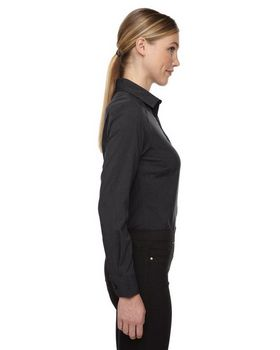 North End Sport Blue 78802 Ladies Melange Shirt