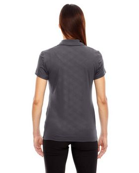 North End 78659 Ladies' Maze Performance Stretch Embossed Print Polo