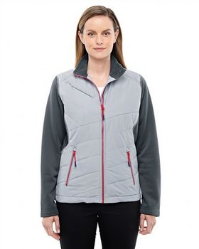 North End Sport Red 78809 Ladies Hybrid Insulated Jacket