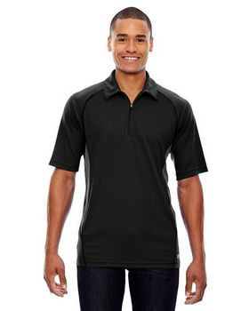 North End 88657 Men's Serac Performance Zippered Polo