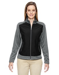 North End 78202 Victory Ladies Hybrid Fleece Jacket