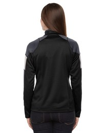 North End 78214 Quick Ladies Performance Interlock Half Zip