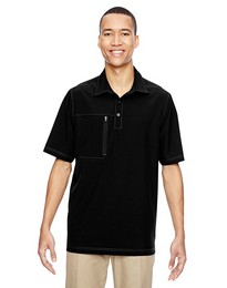 North End 85120 Mens Woven Polo