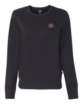 Oakley Cotton Blend Logo Embroidered Crewneck Sweatshirt