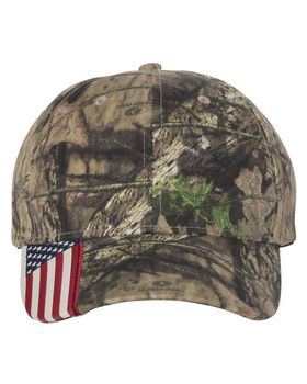 Outdoor Cap CWF305 Cap with American Flag on Visor