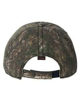 Outdoor Cap CWF315 Camo Cap with American Flag Undervisor