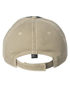Outdoor Cap TPS300 Washed Chino Cap with Contrast Stitching