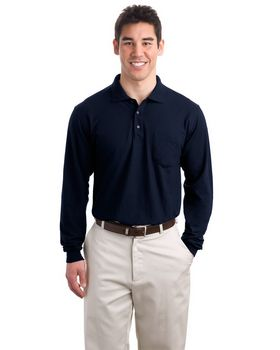 Port Authority K500LSP L-Sleeve Silk Touch Polo