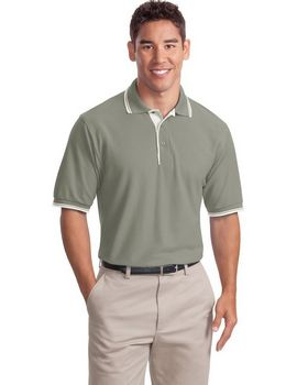 Port Authority K501 Silk Touch Polo with Stripe Trim
