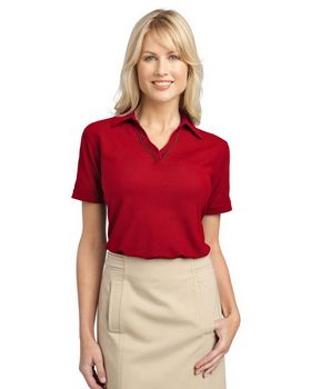 Port Authority L502 Ladies Silk Touch Piped Polo