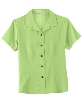 Port Authority L533 Ladies Silk Blend Camp Shirt