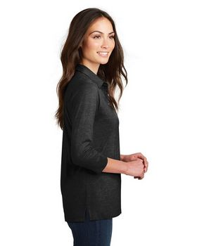 Port Authority L578 Ladies 3/4-Sleeve Blend Polo