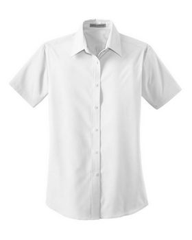 Port Authority L633 Ladies Short Sleeve Value Poplin Shirt