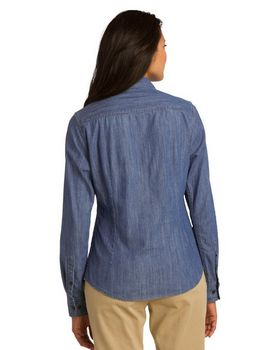 Port Authority L652 Ladies Denim Shirt