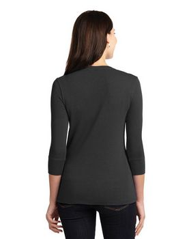 Port Authority LM1007 Ladies Scoop Henley