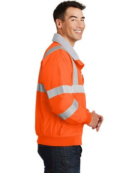 Port Authority SRJ754 Safety Jacket with Reflective Taping