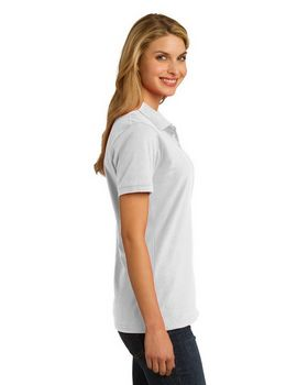 Port & Company LKP150 Ladies Ring Spun Pique Polo