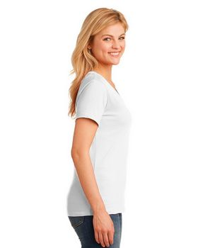 Port & Company LPC54V Ladies V Neck T Shirt