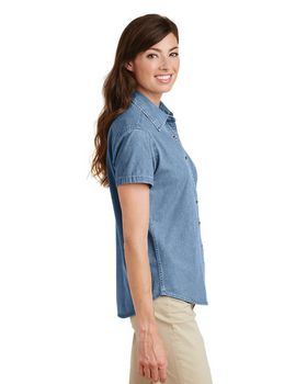 Port & Company LSP11 Ladies S-Sleeve Value Denim Shirt