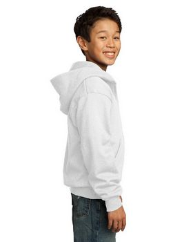 Port & Company PC90YZH Youth Full-Zip Hooded Sweatshirt