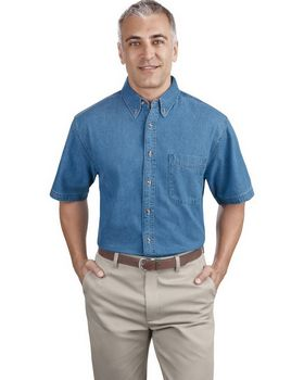 Port & Company SP11 Short Sleeve Value Denim Shirt