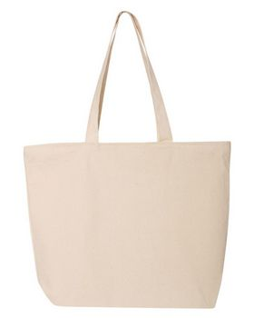 Q-Tees Q611 24.5L Canvas Zippered Tote