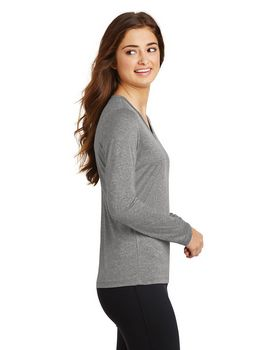 Sport-Tek LST360LS Ladies Long Sleeve V-Neck Tee