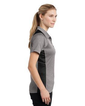 Sport-Tek LST665 Ladies Heather Colorblock Contender Polo