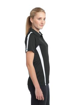 Sport-Tek LST685 Ladies PosiCharge Micro-Mesh Colorblock Polo